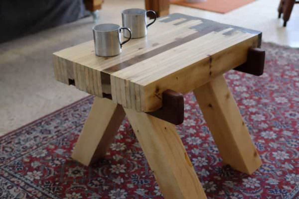 Japanese-style Pallet Wood Concrete-ended Table Pallet Desks & Pallet Tables