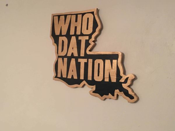 Louisiana Who Dat Nation Pallet Wall Art Shows State Pride Pallet Wall Decor & Pallet Painting