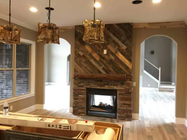 Stellar Pallet Fireplace Surround That Will Astound! Pallet Walls & Pallet Doors