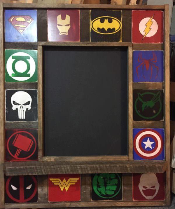 Stupendous Pallet Wood Superhero Chalkboard Pallet Home Accessories