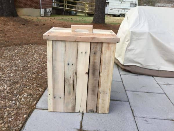 Modified Outdoor Pallet Wood Trash Can Pallet Home Accessories