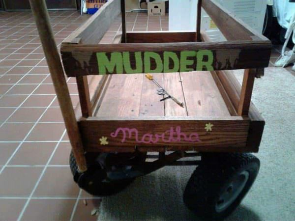 Pallet Yard Wagon For Mom Pallets in the Garden