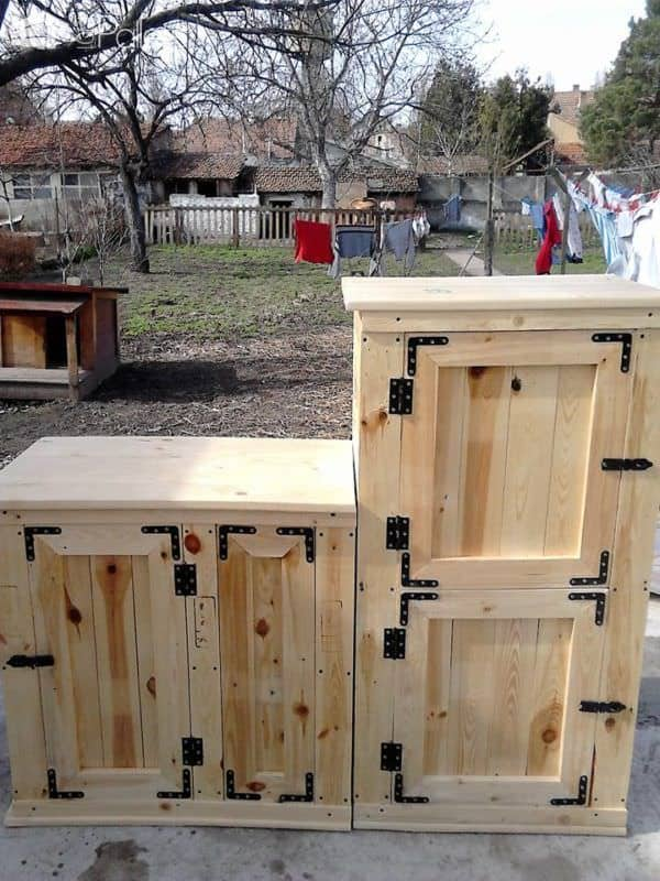 Exquisite Pallet Sideboard Set – Great For Any Room! Pallet Cabinets & Wardrobes