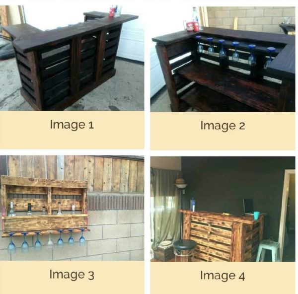 Pallet Bar Wall Rack Ideas You Can Do Easily! Pallet Bars