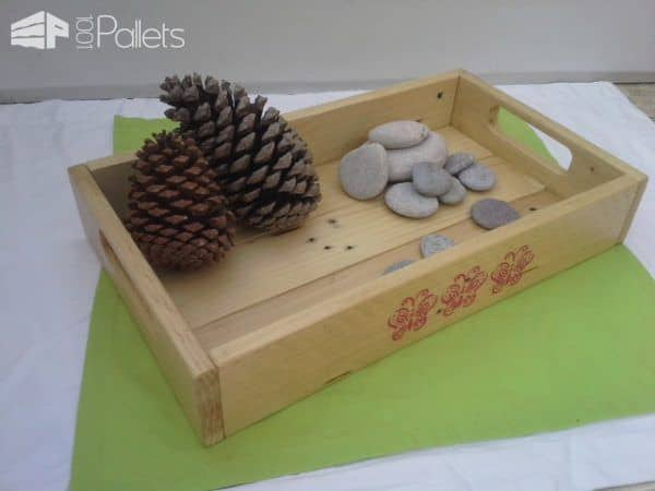 Simple Elegant Pallet Serving Tray Pallet Home Accessories