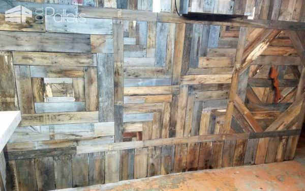 Ultimate Pallet Man Cave Features Epoxy Penny Bar Pallet Bars Pallet Walls & Pallet Doors