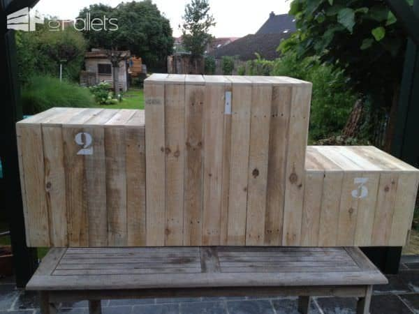 1-2-3 Pallet Winners Stage Pallet Boxes & Chests