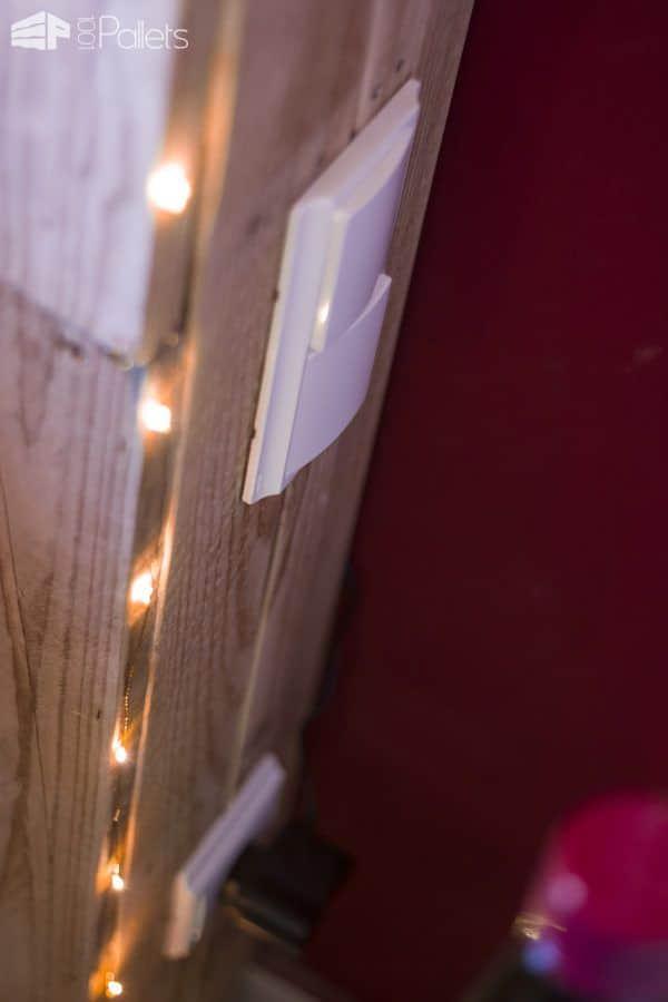 Cabin-inspired Kingsize Pallet Bed Pallet Beds, Pallet Headboards & Frames