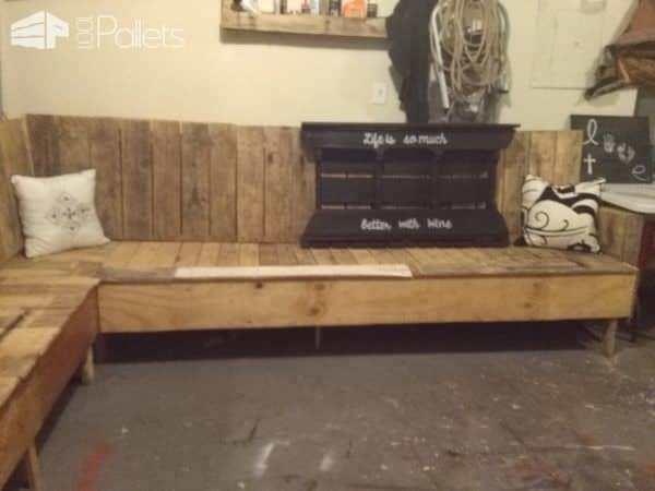 Game Room Pallet Sectional Sofa Pallet Sofas & Couches