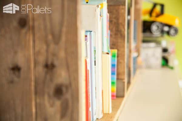 Rustic Pallet Bookshelves For Kid's Room / Etagère Rustique En Bois De Palettes Pallet Bookcases & Bookshelves