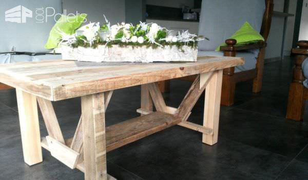 Several Pallet Tables Done in Different Styles Pallet Benches, Pallet Chairs & Stools Pallet Desks & Pallet Tables