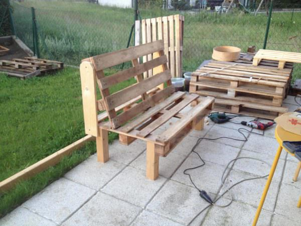2 Person Comfy Pallet Garden Seat Pallet Benches, Pallet Chairs & Stools