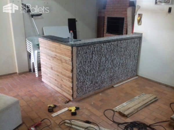 Beautiful Pallet Outdoor Kitchen Counter Pallet Bars