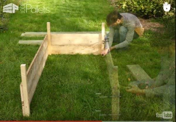 Make Pallet Wood Planter Boxes Pallet Planters & Compost Bins Pallet Tutorials