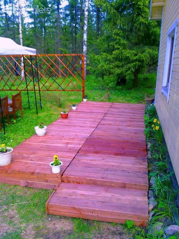 24 Ideas To Make Your Outdoor Living Areas Spectacular Using Pallets Lounges & Garden Sets Pallet Terraces & Pallet Patios