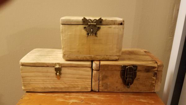 Adorable Handmade Pallet Jewelry Boxes Pallet Boxes & Chests