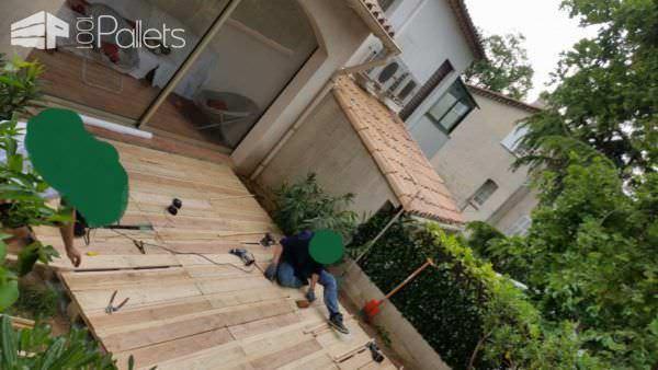 Beautiful Pallet Deck Pallet Floors & Decks Pallet Terraces & Pallet Patios