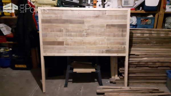 Dual-stained Pallet Headboard Pallet Beds, Pallet Headboards & Frames