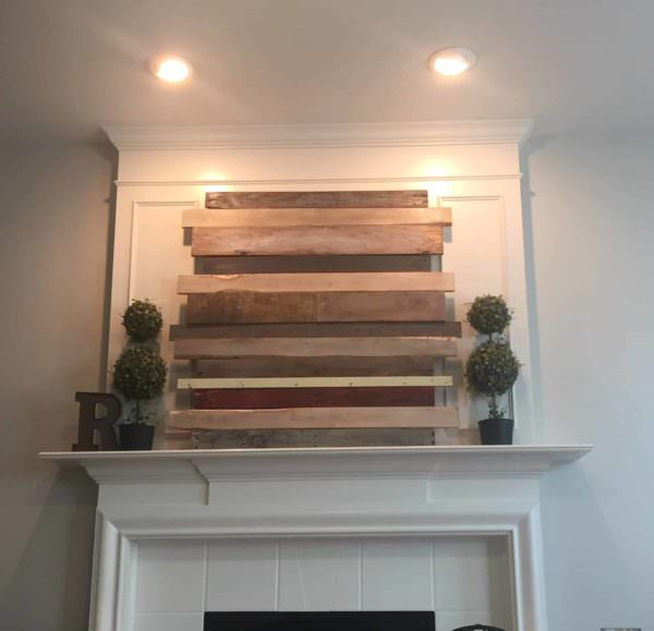 Pallet Wood Mantle Piece for My Living Room Pallet Wall Decor & Pallet Painting
