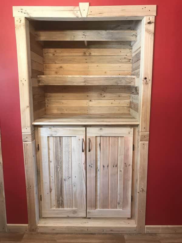 Recessed Pallet Bookcase Pallet Bookcases & Bookshelves