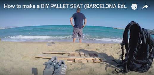 Diy Video Tutorial: Easy Pallet Beach Seat! DIY Pallet Video Tutorials Pallet Benches, Pallet Chairs & Stools