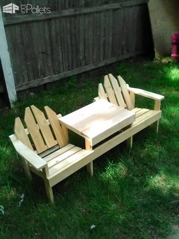 Kids Pallet Adirondack Chairs/Table Set Pallet Benches, Pallet Chairs & Stools