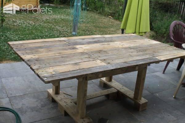 Large Pallet Garden Table Pallet Desks & Pallet Tables