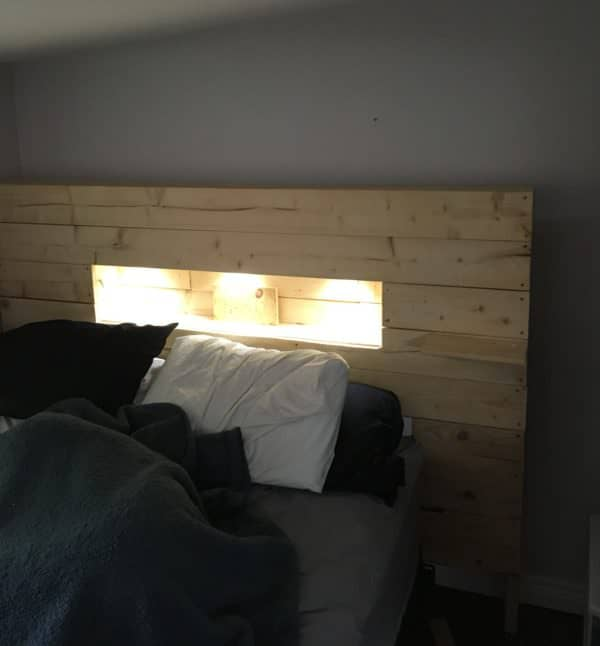 Led Lit Pallet Wood Headboard 1001 Pallets