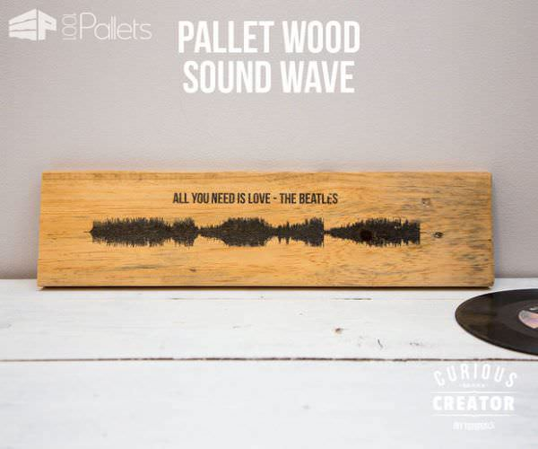 Must-see Diy Video Tutorial: Pallet Sound Wave Song Board DIY Pallet Video Tutorials Pallet Wall Decor & Pallet Painting