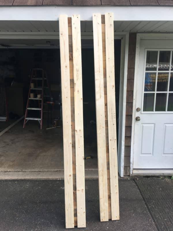 Rustic King-size Pallet Bed Frame Pallet Beds, Pallet Headboards & Frames