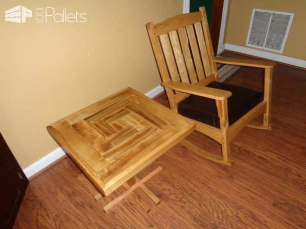 Stunning Patterned Pallet Side Table Pallet Desks & Pallet Tables