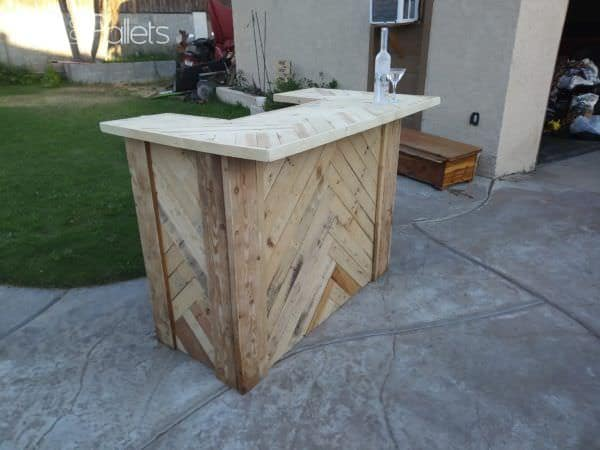 Amazing Herringbone Pallet Party Bar Pallet Bars