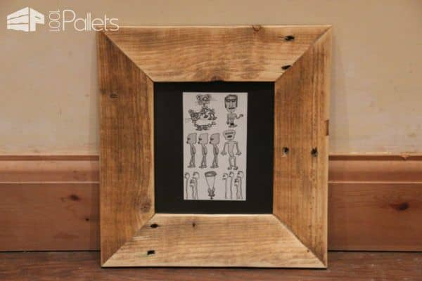 Charming Pallet Picture Frames Pallet Home Accessories Pallet Wall Decor & Pallet Painting