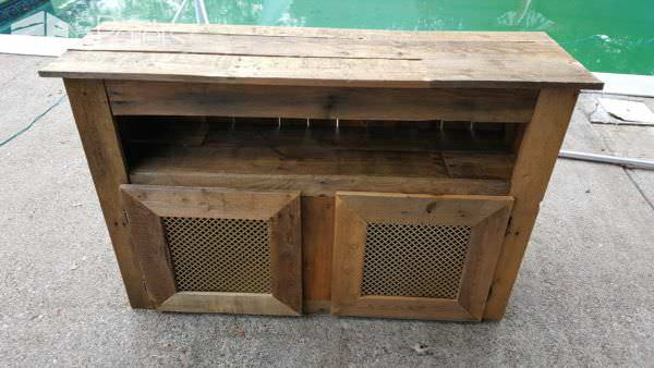 Cross-hole Perforated Metal Pallet Tv Stand Pallet TV Stands & Racks