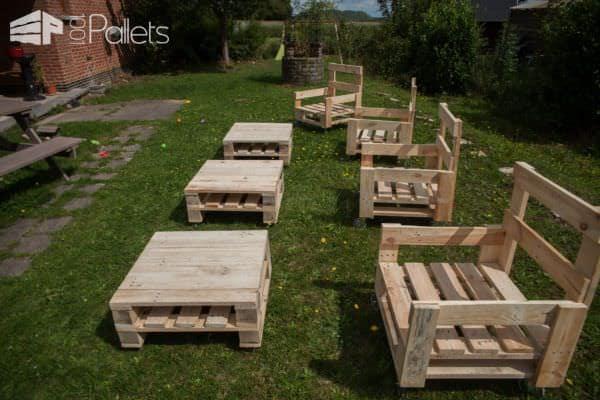 Diy Video Tutorial: Industrial Pallet Armchair Set / Fauteuil Industriel En Bois De Palettes DIY Pallet Video Tutorials Pallet Benches, Pallet Chairs & Stools