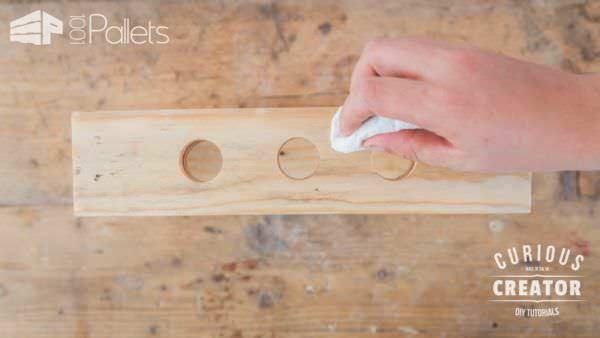 Pallet Glass Vase Stand DIY Pallet Video Tutorials Pallet Home Accessories