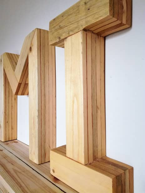 Large Pallet Letters Wall Art Pallet Wall Decor & Pallet Painting