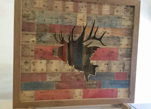 Led-lit Pallet Elk Wall Art Pallet Wall Decor & Pallet Painting