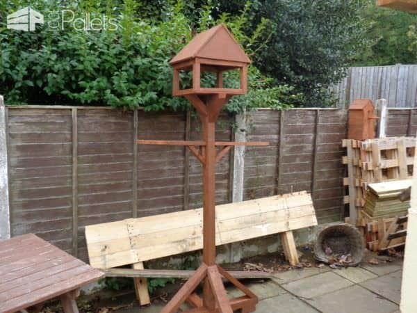Raised Pallet Birdhouses Plus Planter Project Animal Pallet Houses & Pallet Supplies Pallet Planters & Compost Bins