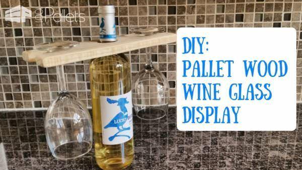 Easy Pallet Wine Glass Holder DIY Pallet Video Tutorials