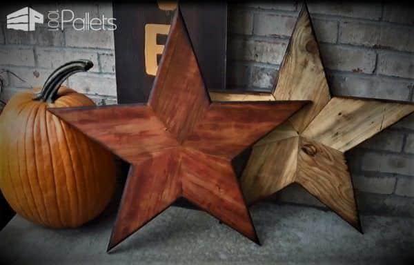Pallet Wood Stars DIY Pallet Video Tutorials Pallet Wall Decor & Pallet Painting