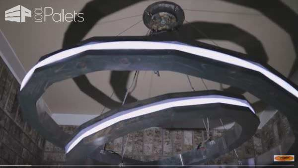 Saturn Rings Led Pendant Light DIY Pallet Video Tutorials Pallet Lamps & Lights