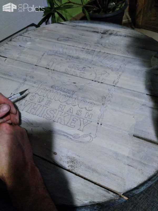 Sour Mash Pallet Clock / Horloge En Palette Pallet Clocks Pallet Home Décor Ideas