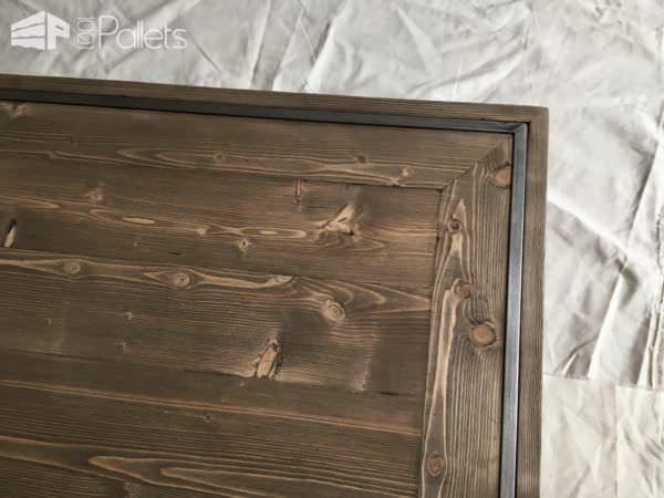 When Pallets Meet Steel: Sleek Pallet Coffee Table Pallet Coffee Tables