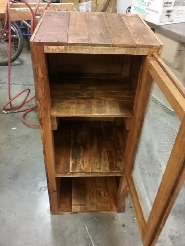 Rustic Pie Safe Pallet Cabinet Adds Charm & Storage! Pallet Cabinets & Wardrobes