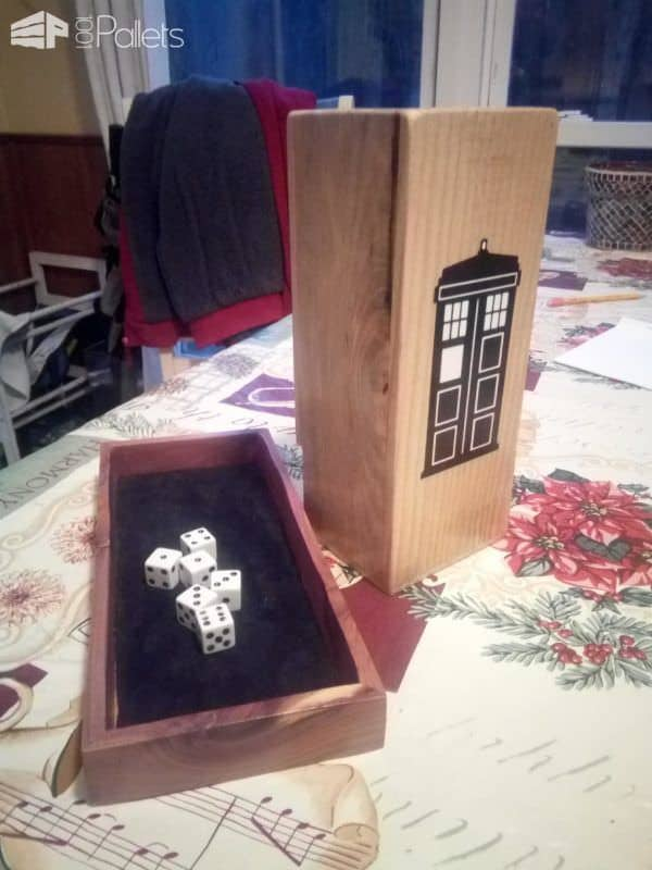 Brilliant Dr. Who Themed Pallet Dice Tower Fun Pallet Crafts for Kids Other Pallet Projects