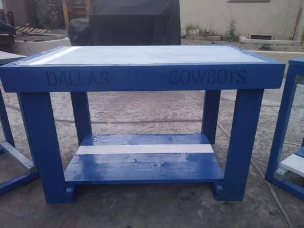 Dallas Cowboys Pallet Table Set Perfect For Fans Pallet Benches, Pallet Chairs & Stools Pallet Desks & Pallet Tables
