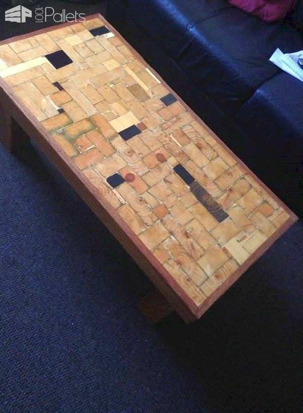 Upcycled Timber End-grain Coffee Table Pallet Coffee Tables