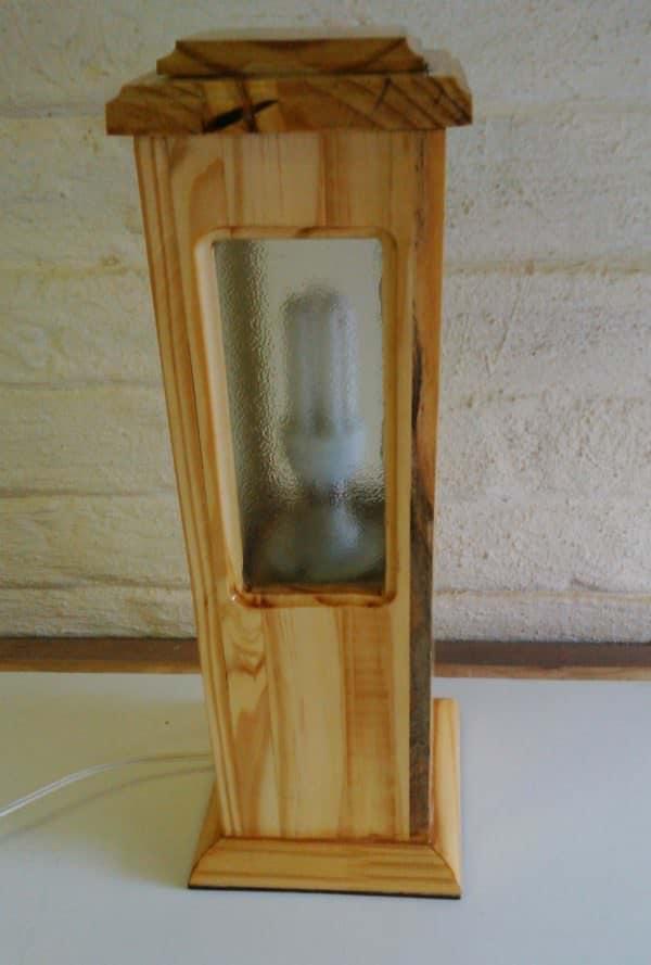 Elegantly Upcycled Wood Pedestal Lamp Pallet Lamps & Lights