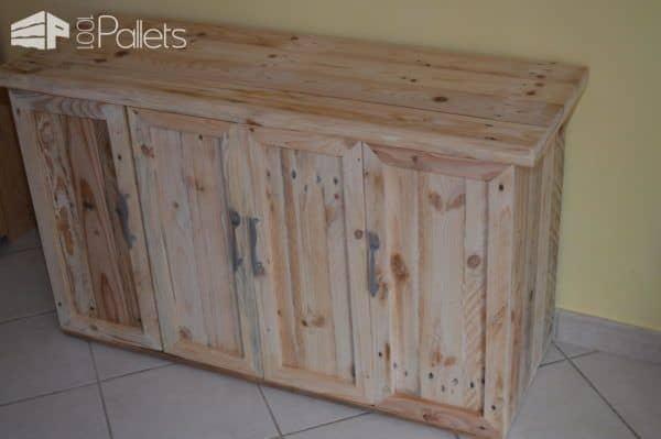 Multi-purpose Pallet Cabinet Adds Storage! Pallet Cabinets & Wardrobes